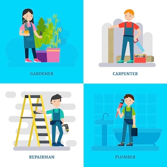 Composition de la place des travailleurs professionnels