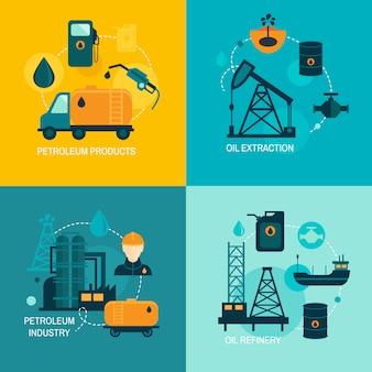 Composition à plat de l'industrie pétrolière