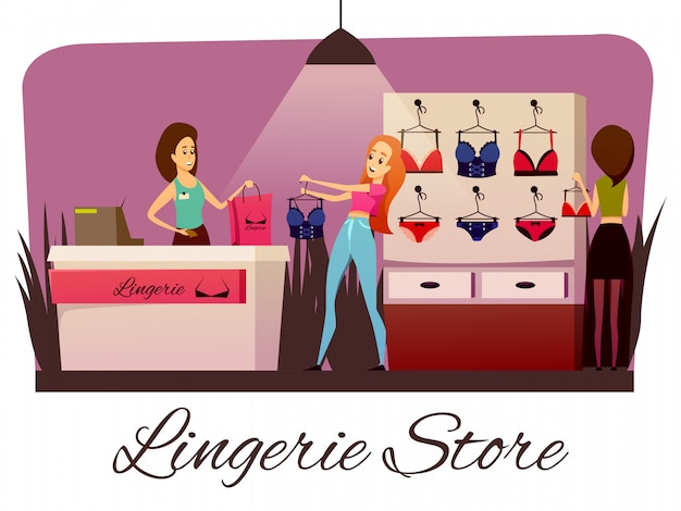 Composition plate de magasin de lingerie