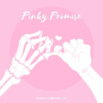 Composition de promesse pinky dessinés à la main