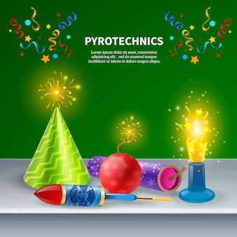 Composition pyrotechnique festive