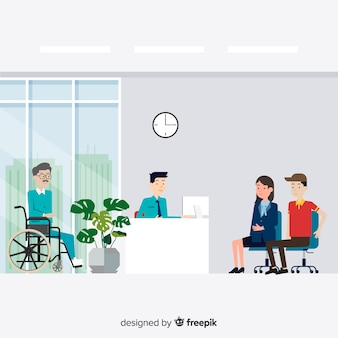 Composition de réception moderne avec un design plat