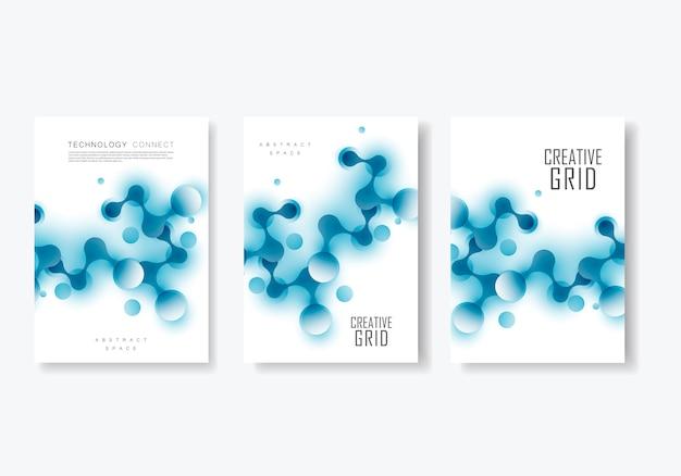 La composition relie les formes abstraites, le modèle et la couverture