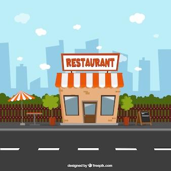 Composition de restaurant burger moderne