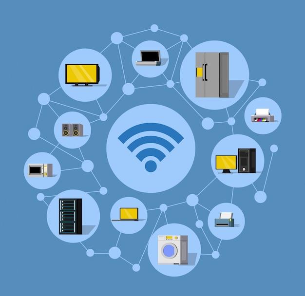 Composition ronde de technologie sans fil