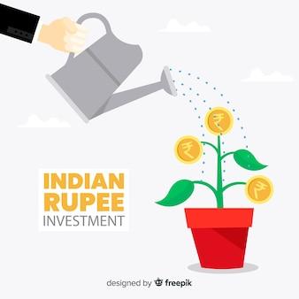 Composition de la roupie indienne moderne