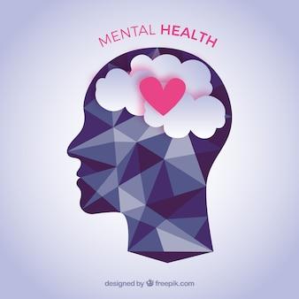 Composition de la santé mentale avec un design plat