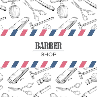 Composition de la série d'icônes pour le salon de coiffure.