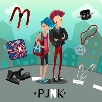Composition de sous-culture punk
