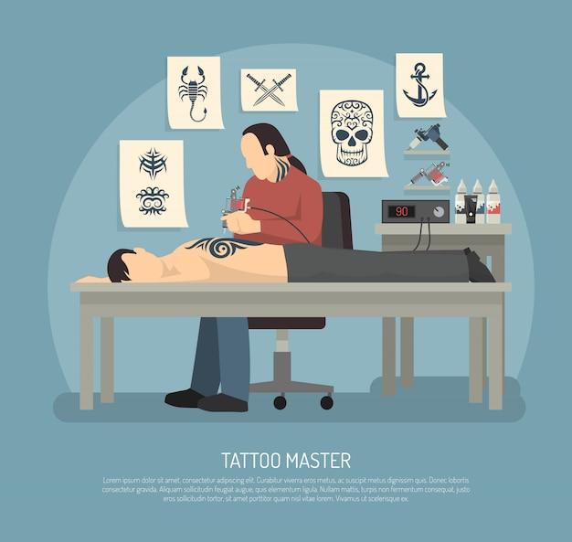 Composition de studio de tatouage