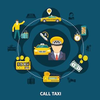 Composition de taxi pool round