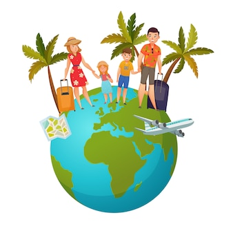 Composition de vacances en famille