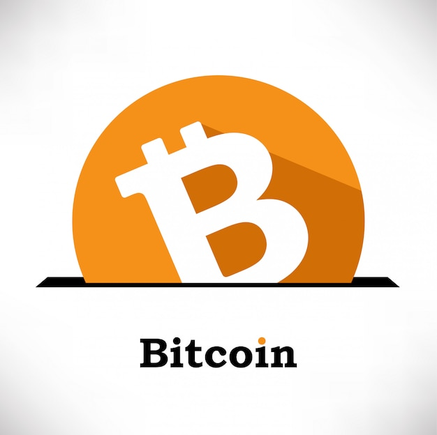 Composition de vecteur de symbole bitcoin