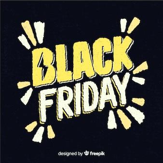 Composition de vendredi noir dessiné à la main moderne