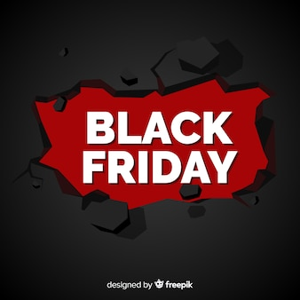 Composition de vendredi noir moderne avec un design plat