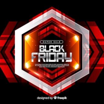 Composition de vendredi noir moderne avec un design réaliste