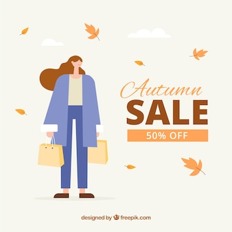 Composition de vente automne dessinés à la main