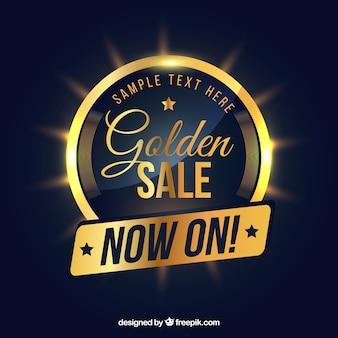 Composition de vente classique avec un style doré