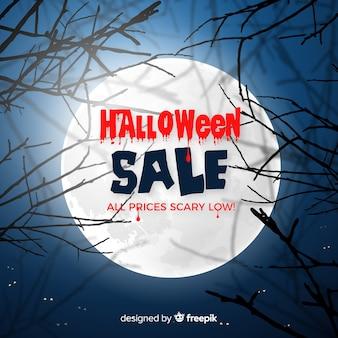 Composition de vente halloween effrayant avec un design réaliste