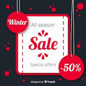 Composition de vente d'hiver moderne