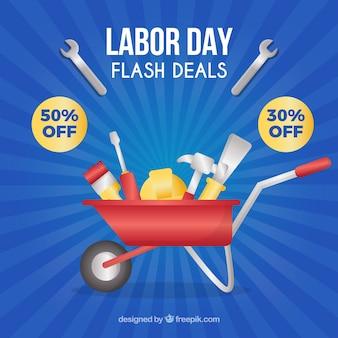Composition des ventes de la journée de travail moderne