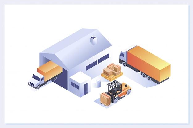 Compositions isométriques d'entrepôt