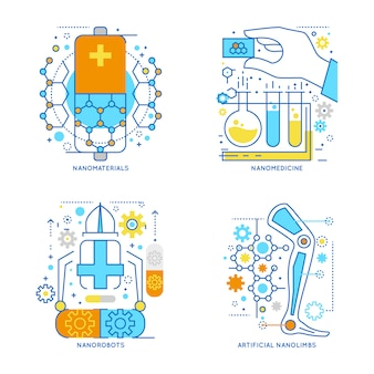 Compositions linéaires colorées de nanotechnologie