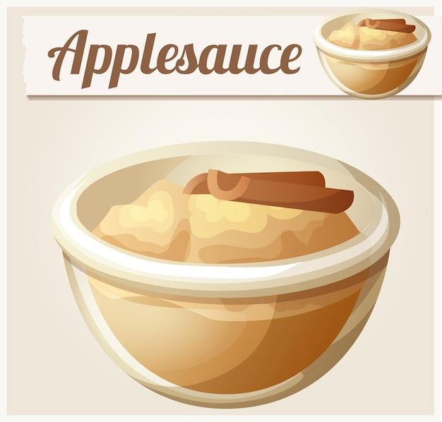 Compote de pommes. icône détaillée.