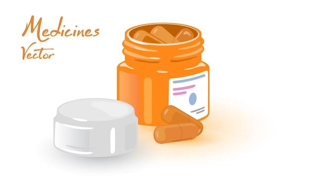 Comprimés de gelée de soutien de la santé dans un pot orange