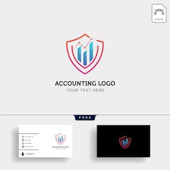 Comptabilité, finance modèle de logo créatif