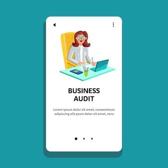 Comptable de travail audit d'entreprise financier