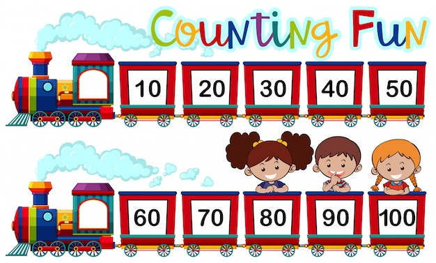 Comptage des numéros dans le train