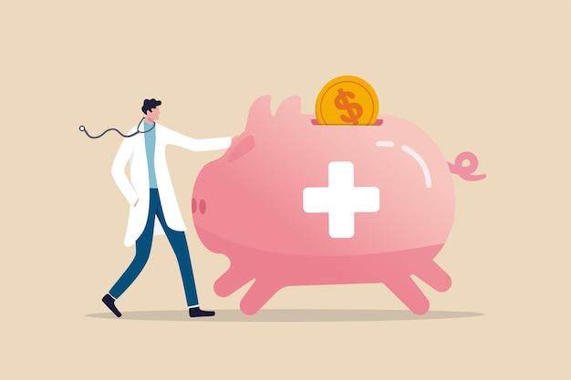 Compte d'épargne santé plan financier hsa économisant pour frais médicaux ou frais d'assurance-maladie