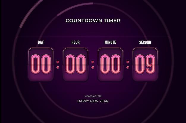 Compte à rebours compte jour heure minute et seconde