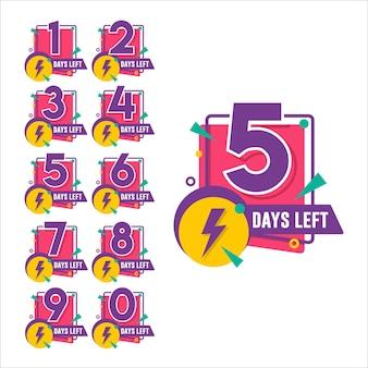 Compte à rebours du nombre de jours restants