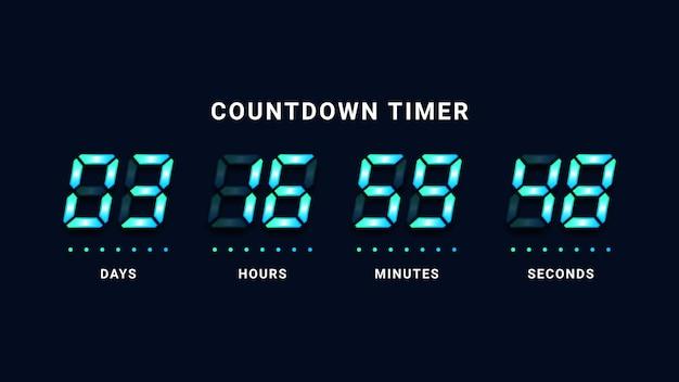 Compte à rebours horloge numérique