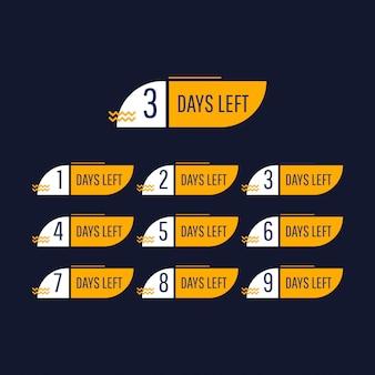 Compte à rebours, jours restants, chiffres.