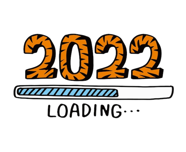 Compte à rebours jusqu'au nouvel an 2022année 2022 du tigre