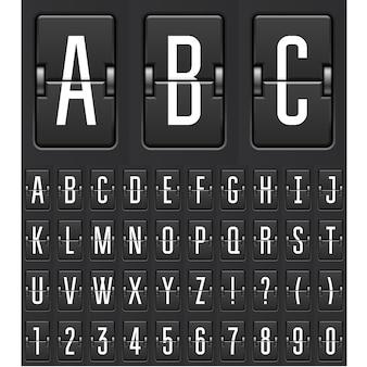 Compte à rebours mécanique - calendrier flip ou chiffres et lettres du tableau de bord du jeu