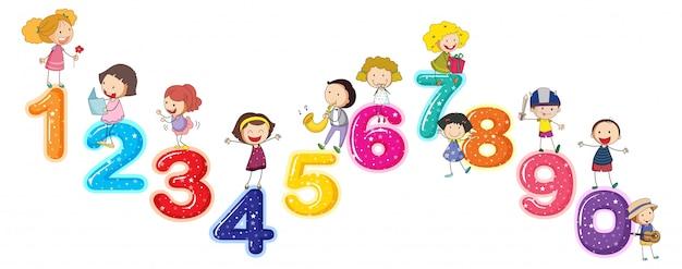 Compter les chiffres avec les petits enfants