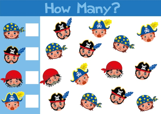 Compter l'illustration du jeu de jouets pour les enfants d'âge préscolaire au format vectoriel