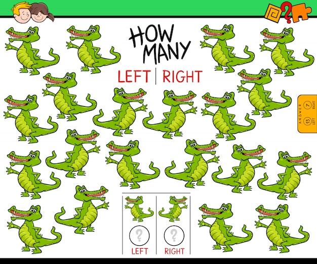 Compter les images gauche et droite pour les enfants