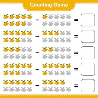 Compter le jeu, compter le nombre de cloches de noël et écrire le résultat. jeu éducatif pour enfants