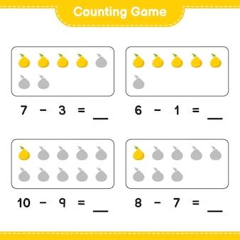 Compter le jeu, compter le nombre d'ugli et écrire le résultat. jeu éducatif pour enfants, feuille de travail imprimable