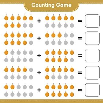Compter le jeu, compter le nombre de voavanga et écrire le résultat.