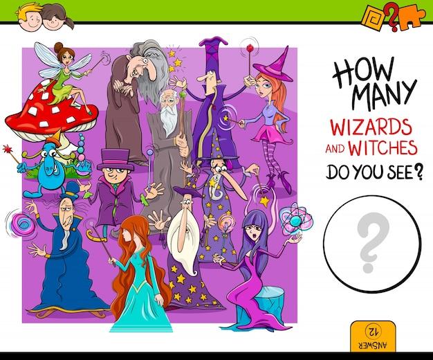 Compter les magiciens jeu éducatif pour les enfants