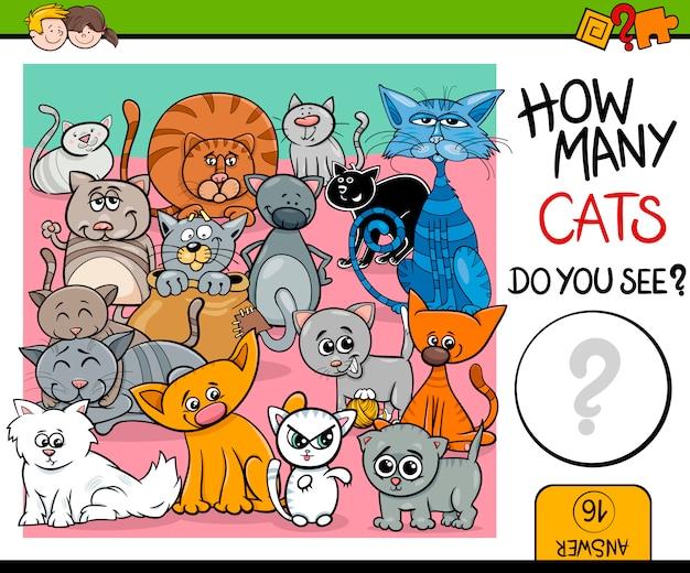 Compter la tâche des chats pour les enfants