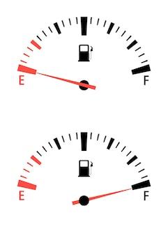 Compteur de jauge de carburant. interface du compteur de vitesse jauge de gaz du moteur