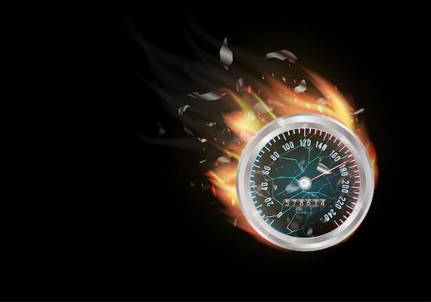 Compteur de test de vitesse internet