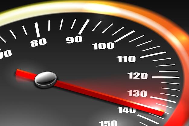 Compteur de vitesse avec aiguille rouge